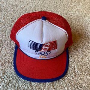 Vintage USA 1984 Olympics McDonalds Trucker Hat